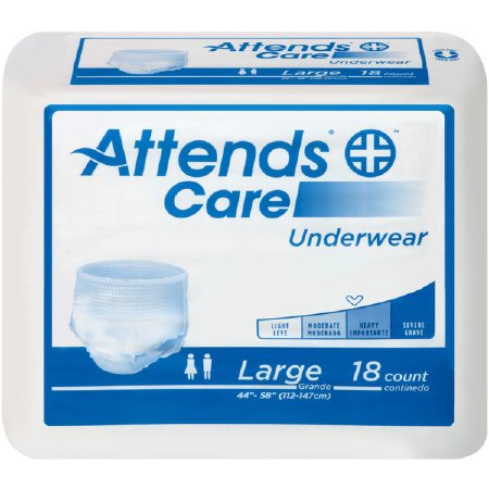 Attends Adult Absorbent Underwear Care Pull On Regular Disposable Moderate Absorbency