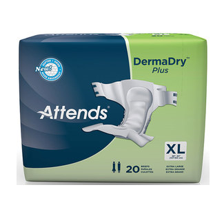 Attends DermaDry Plus Briefs X-Large 58 - 63