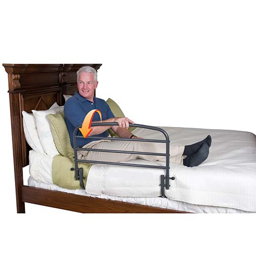 Bed Pivoting Safety Rail