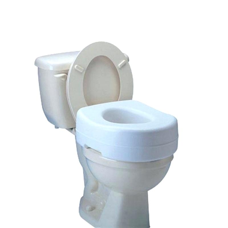 Carex Raised Toilet Seat Economy 5-1/2 Inch Height White 300 lbs. Capacity