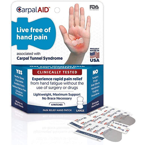 CarpalAID Large Hand Patch - 6 Pack