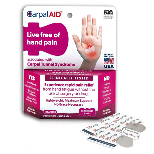 CarpalAID Small Hand Patch - 6 Pack