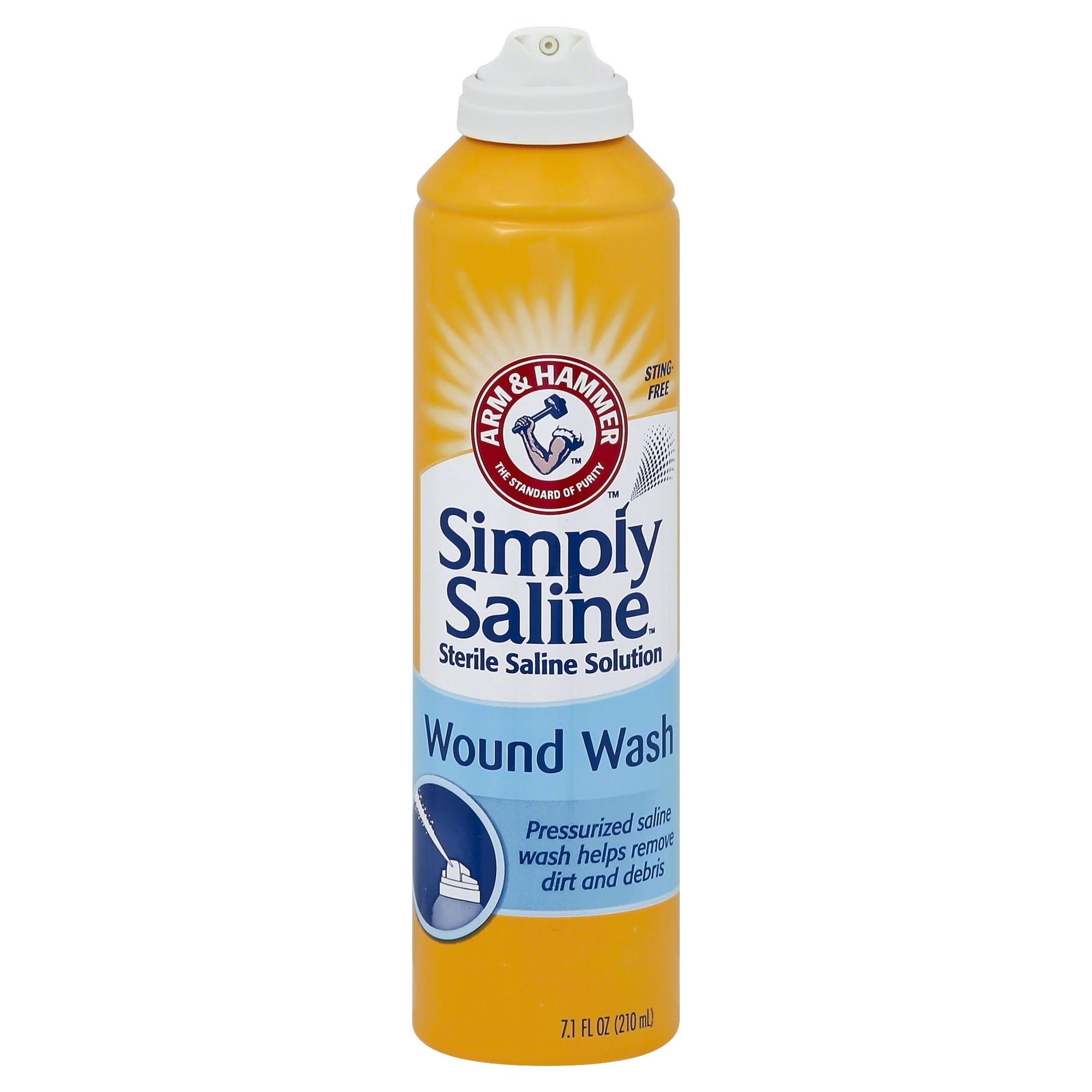 Church & Dwight Simply Sterile Wound Wash Saline 7 oz