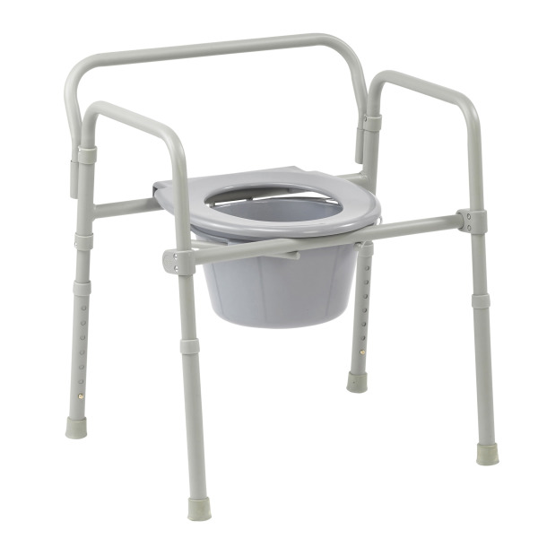 Drive Folding Competitive Edge 3-in-1 Commode - 350 lb