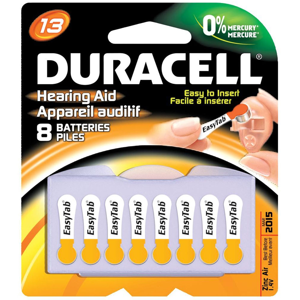 Duracell 13 Cell Hearing Aid Batteries - 8 Pack
