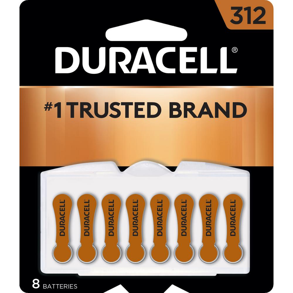 Duracell 312 Cell Hearing Aid Batteries - 8 Pack