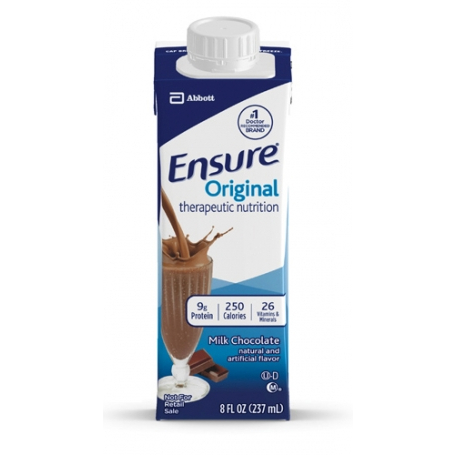 Ensure Chocolate Flavor Oral Supplement 8 oz. Carton Ready to Use