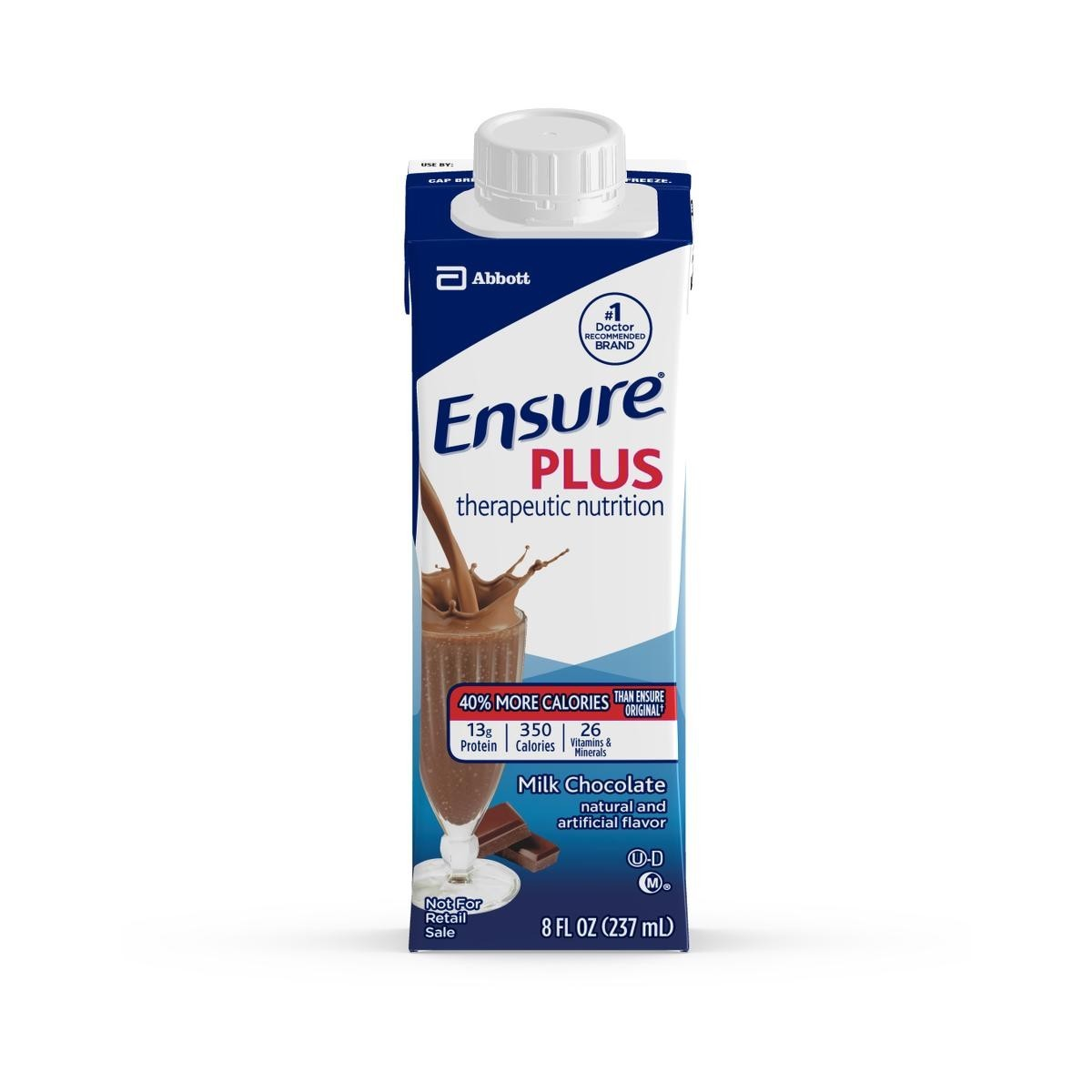 Ensure Plus Chocolate Flavor Oral Supplement 8 oz. Carton Ready to Use