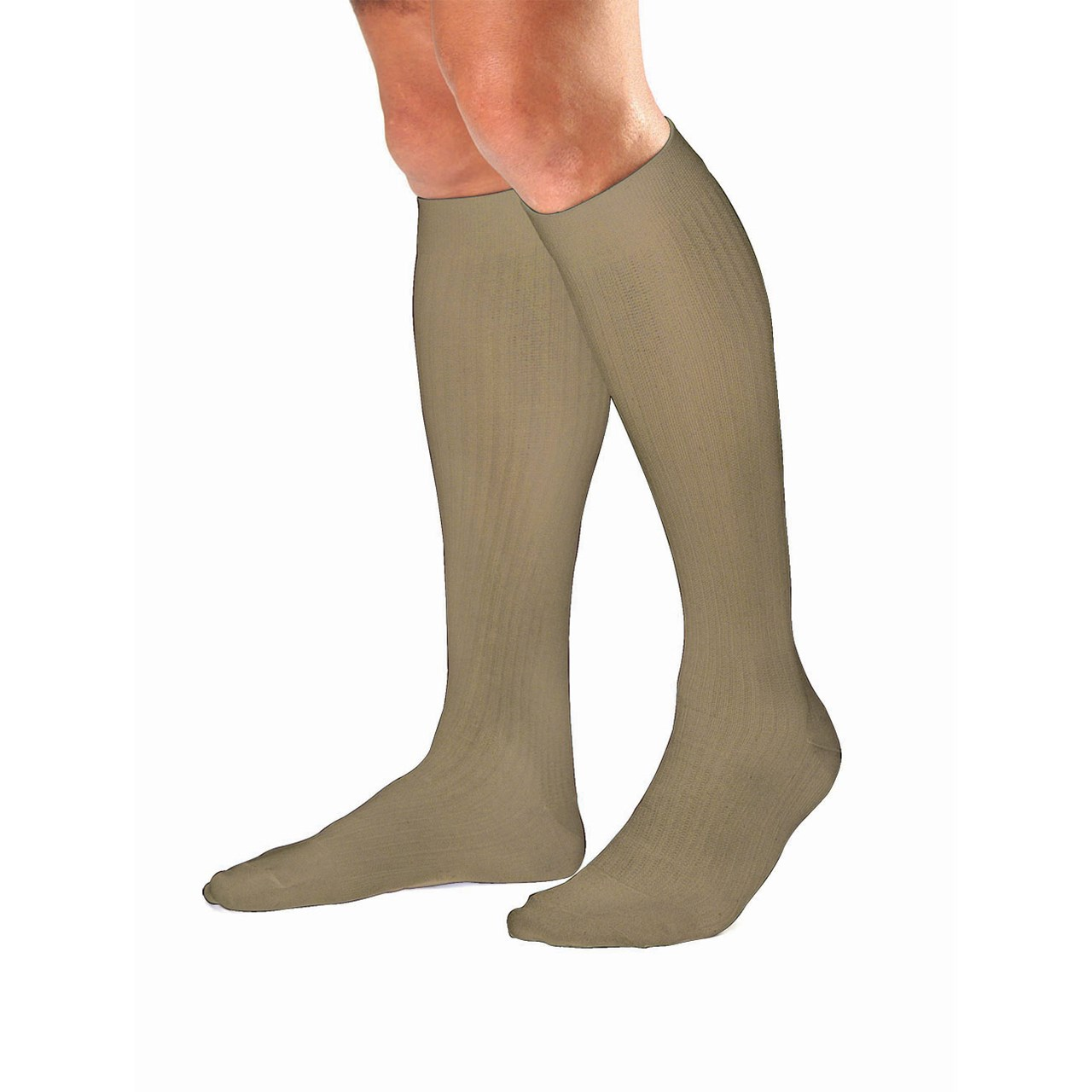 Jobst Men's Dress 8-15 mmHg Knee Highs - Khaki