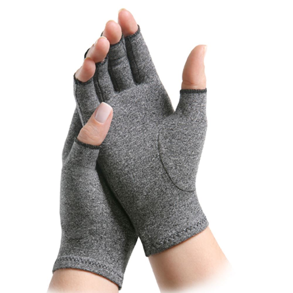 Matrix Arthritis Glove IMAK Compression Open Finger Medium Over-the-Wrist Hand Specific Pair Cotton / Lycra