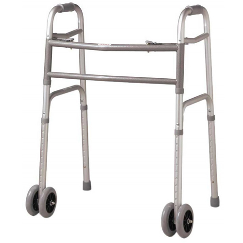 Medline Guardian Easy Care Junior Folding Walker - 5 Wheels