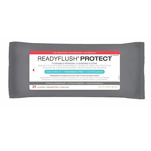 Medline ReadyFlush Biodegradable Flushable Wipes - 8'' x 12''