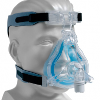 Image of Respironics ComfortGel Blue Full Mask with Premium Headgear