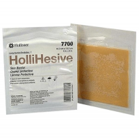 "Image of Hollister Hollihesive Ostomy Skin Barrier, Standard Wear, 4"" x 4"""