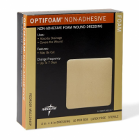 "Image of Medline Optifoam Non-Adhesive Foam Dressing 4"" x 4"""