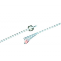 Image of Bard 100% Silicone 2-Way Foley Catheter, Round, 14 Fr. 5cc Balloon Capacity