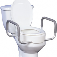 "Image of Drive Raised Toilet Seat with Arms 3-1/2"" 300 lbs"