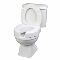 "Image of Ableware Raised Toilet Seat - White - 3"" - 350 lbs"