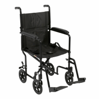 Image of McKesson Lightweight Transport Chair - Aluminum Frame - 300 lbs