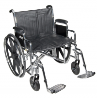 "Image of Drive Bariatric Sentra EC Heavy-Duty Wheelchair - 24"" x 18"" - 450 lbs"