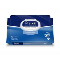 "Image of Prevail Disposable Adult Washcloth with Press-n-Pull Lid, 12"" x 8"""