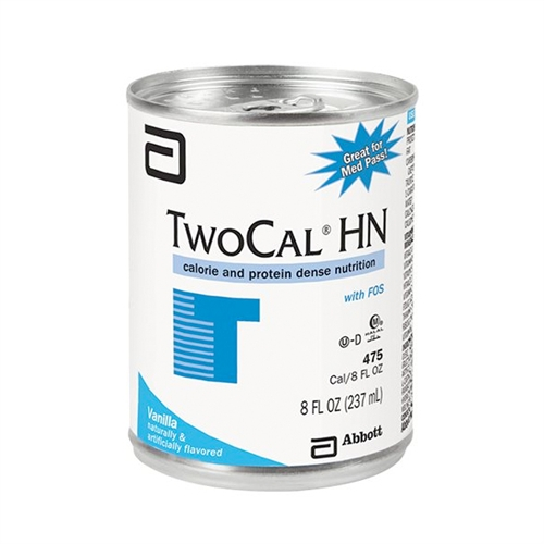 Twocal HN Oral Supplement / Tube Feeding Formula Vanilla Flavor 8 oz. Can Ready to Use